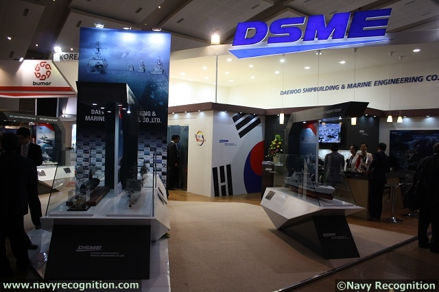 Korean government very recently selected DSME (Daewoo Shipbuilding & Marine Engineering Co., Ltd) as preferred bidder to assemble two 3000 tons class conventional submrines (SSK) Navy Recognition has learned during Indo Defence 2012, the Tri-service defence exhibition currently being held in Jakarta.