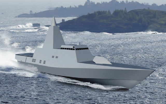 Based on the Swedish Navy Visby class (and not MEKO) the FLEXpatrol revolves around the GHOST system (Genuine, Holistic, Stealth) which aims at reducing all emissions from the ship (radar, acoustic, infra-red, and electromagnetic). Just like with the Visby class, one of the main requirements with FLEXpatrol is stealth. However, while Visby class ships are very customized and dedicated ship per request from the Swedish Navy, the FLEXpatrol other focus is versatility: It clearly is a multi-role vessel capable of carrying modular mission modules in order to conduct very different and very dedicated missions.