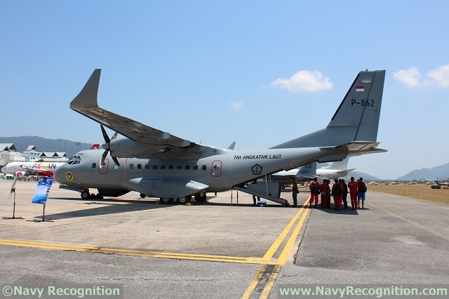 For the first time at LIMA exhibition in Langkawi (Malaysia), the Indonesian Navy (TNI AL) was present with one of its latest CN235-220 maritime surveillance aircraft. Locally built by Indonesian Aerospace (IAe or PT Dirgantara Indonesia), the maritime surveillance aircraft is fitted with Thales' Airborne Maritime Situation and Control System (AMASCOS) and several sensor systems.