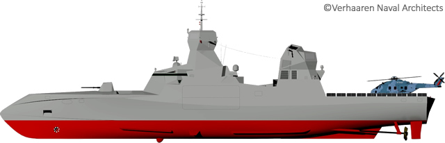 C Sword 90 is a stealthy corvette. She is designed and armed for deterrent missions and to operate in multiple theatres of operations and more especially, for littoral warfare defence operations against submarine, air and surface threats. The vessel features stealthy hull and superstructure design with sloped surface and highly integrated equipment.