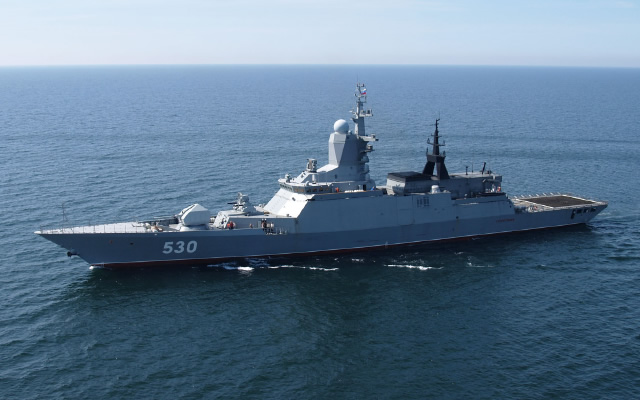 Designed by Almaz Central Marine Design bureau, the Project 20380/20382 is a well-balanced ship in terms of armament and displacement, designed to operated in littoral areas and shelf seas. Its main missions include protection of territorial waters, exclusive economic zone, continental shelf, offshore areas, naval bases and ports. The ship represents a versatile platform easily transformable to meet customer's requirements.