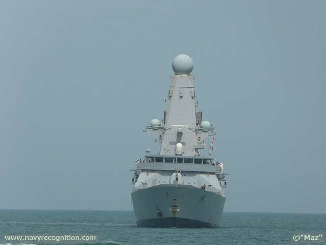 HMS Daring, the first of the Royal Navy's (RN's) Type 45 destroyers, Arrived at DIMDEX (Doha International Maritime Defence Exhibition & Conference), showcasing her state-of the-art technology, including the new, fully digital, radar electronic support measures (RESM) system supplied by Thales UK.