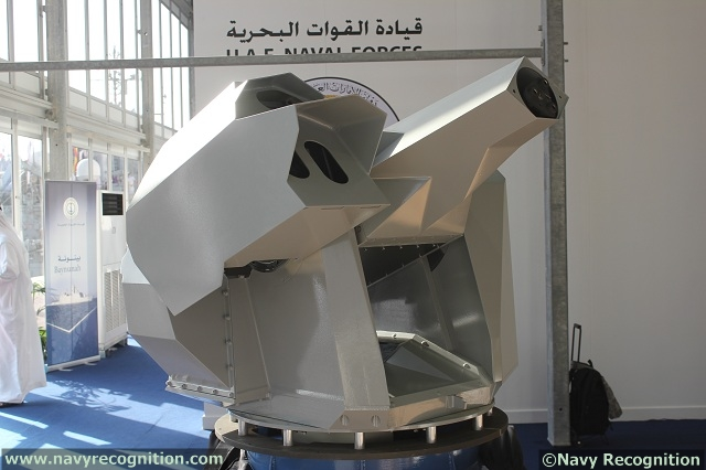 During NAVDEX 2013 Oto Melara, a world leader in naval weapon systems, presented for the first time a full scale model of its HITROLE-G RWS naval weapon system.
