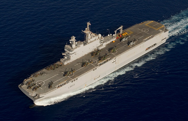 The first Mistral class amphibious assault ship for Russia will be laid down at the start of February in a French shipyard, a military industry official told RIA Novosti on Tuesday.