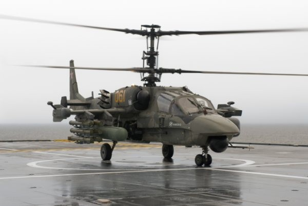 The Russian Navy is conducting trials to clear the Ka-52 for shipborne operations. Several Ka-52 helicopters will be procured in the near future by Russian Navy in order to place them on the future Mistral class vessels.