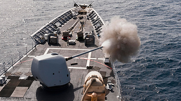 BAE Systems recently received a $25.7 million contract from the U.S. Navy to overhaul and upgrade two Mk 45 naval guns bringing them to the 5-inch 62-caliber Mk 45 Mod 4 configuration. The Mod 4 is an upgrade to the Mod 2 design, which significantly enhances overall mission performance.