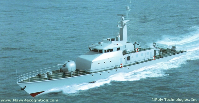 New Chinese made Missile Boat of unknown type