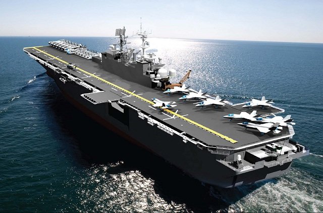 The U.S. Navy May 31st awarded Huntington Ingalls Industries a $2.38 billion fixed-price-incentive contract for the detail design and construction of the multipurpose amphibious assault ship Tripoli (LHA 7). The ship will be built at the company's Ingalls Shipbuilding division.