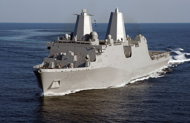 Huntington Ingalls Industries (NYSE:HII) announced today that the company's seventh amphibious transport dock, Anchorage (LPD 23), returned Friday from successful builder's sea trials in the Gulf of Mexico. The ship is currently under construction at Ingalls' Avondale facility.