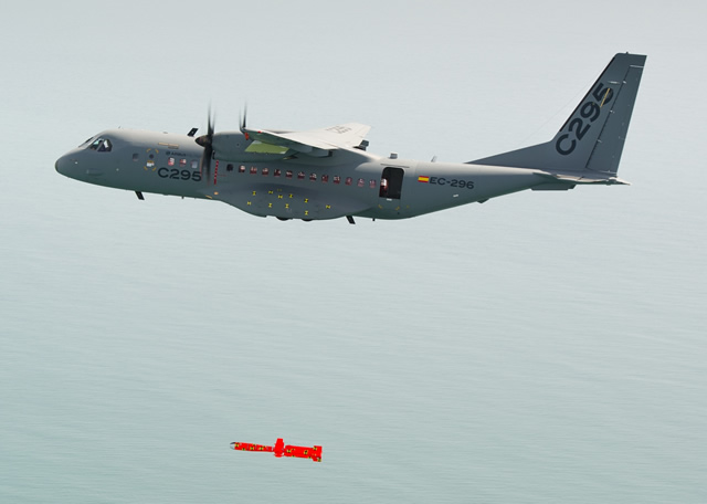 Airbus Military and MBDA have successfully demonstrated the release of an instrumented Marte MK2/S anti-ship inert missile installed under the wing of the C295 maritime patrol aircraft. This flight was the last of a series of trials performed in a joint Airbus Military – MBDA collaboration to validate the aerodynamic integration of Marte on C295, its handling qualities and performance tests.