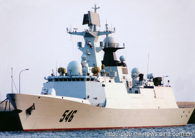 "A ship formation of the Navy of the Chinese People's Liberation Army (PLA) sailed to the West Pacific Ocean to conduct regular high-sea training on the eve of the Chinese Spring Festival. The ship formation is composed of the ""Qingdao"" guided missile destroyer, the ""Yantai"" guided missile frigate and the ""Yancheng"" guided missile frigate of the North China Sea Fleet of the Navy of the PLA, and all the three ships are home-made warships."