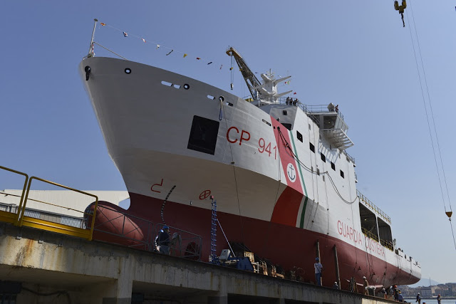 "The second of two multi-purpose vessels commissioned from Fincantieri by the General Command of the Port Authority Corp for the Italian Coast Guard was launched today at Castellammare di Stabia (Naples). The vessel, due to be delivered by the end of this year, is the twin unit of the ""Luigi Dattilo"", launched last December, which will be delivered within this summer."