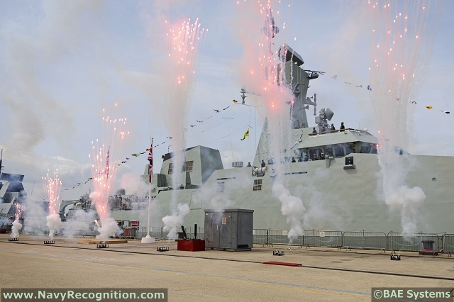 The first warship built by BAE Systems for the Royal Navy of Oman (RNO) as part of Project Khareef for the design, build and delivery of three corvettes, has been formally handed over in a ceremony at HM Naval Base Portsmouth on June 26th.