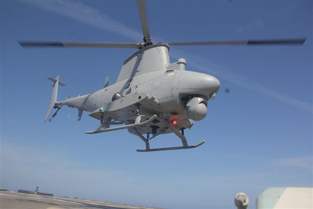 Raytheon Company and the U.S. Navy's Naval Air Systems Command have deployed advanced mission control for the MQ-8 Fire Scout, an unmanned helicopter, aboard the Littoral Combat Ship USS Coronado, which is now underway. Navy control hardware and Raytheon control software were combined for robust, flexible command and control of Fire Scout missions in littoral waters.