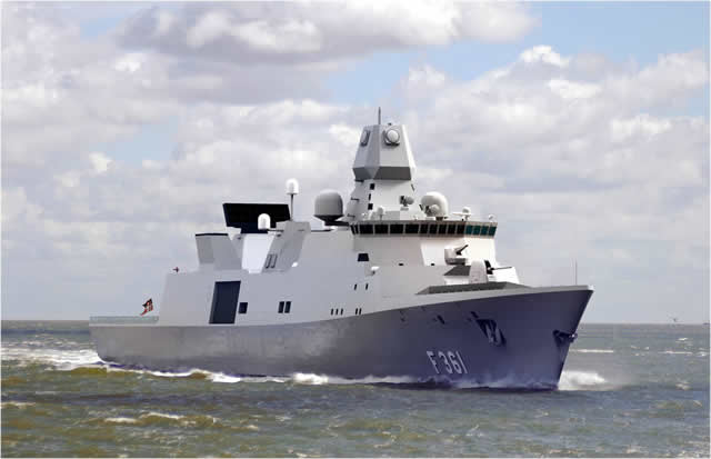 The first Sea Acceptance Test (SAT) of Thales's APAR multifunction radar on the new Iver Huitfeldt class frigates of the Royal Danish Navy was a success. Thanks to the excellent cooperation with the Danish Defence Acquisition and Logistics Organization, this test could be completed in one week instead of a more usual three weeks.