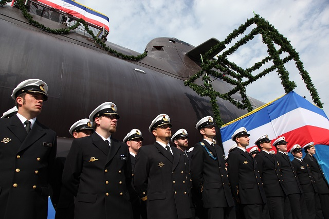 "One of the most modern non-nuclear submarines in the world was named today at the shipyard of ThyssenKrupp Marine Systems GmbH, a company of ThyssenKrupp Industrial Solutions AG, under the name of ""U36"". This marks another important milestone in the ongoing shipbuilding programme for the German Navy. U36 is the second boat of the second batch of HDW Class 212A submarines destined for operation in the German Navy. The German town of Plauen has assumed sponsorship for U36. The ultra-modern submarine was named by Silke Elsner, companion to the Mayor."