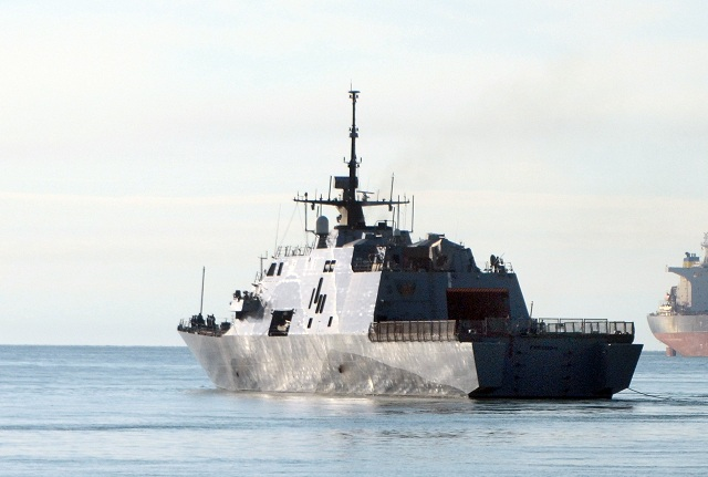 USS Freedom (LCS 1) made its debut in Singapore May 14-19, participating in an international trade show and a maritime exercise with regional navies. Freedom also hosted thousands of visitors, from Singaporean citizens to senior government and military officials, during a series of ship tours.