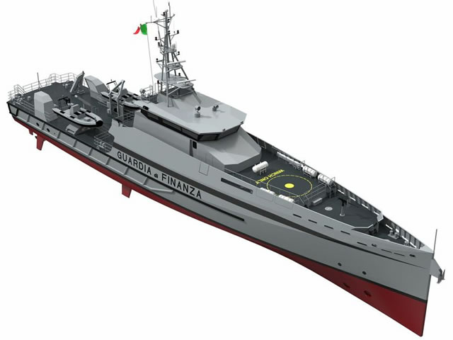 Together with its Italian partner yard Cantiere Navale Vittoria S.p.a., Damen Shipyards are building  two Stan Patrols  5509 to the Italian Guardia di Finanza. This Italian law enforcement agency, deals with financial crime, smuggling Illigal Immigration and narco traffic and maintains a fleet of about 250 vessels.