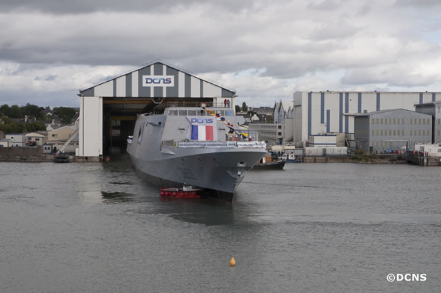 On 18 September 2013, DCNS launched FREMM Provence at its Lorient shipyard. This industrial milestone marks an important step in building the ship. It emphasizes once again the industrial dynamism of DCNS as five multimission frigates are currently being built simultaneously and are at different stages of completion.