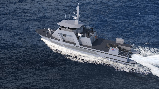 PIRIOU new CPV 105 coastal patrol vessel design