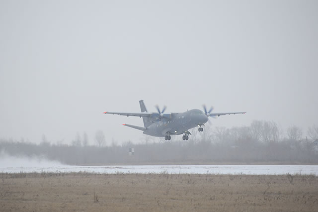 "JSC ""Aviacor - Aviation Plant"" delivered the third An-140-100 aircraft for the Russian Navy on December 25th. The aircraft with registration RF-08853 (serial number 14A005) was handed over during a ceremony in Samara (south western Russia). «The aircraft is delivered in strict accordance with the delivery date specified in the state contract», - CEO of Aviacor, Alexey Gusev, said during the handover ceremony."