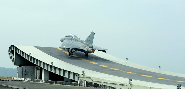 The first prototype of India's indigenous light combat aircraft (LCA) Tejas in its naval version — LCA NP1 — completed its maiden flight as part of the carrier compatibility tests off the shore-based test facility (SBTF) at the INS Hansa naval air station in Goa on December 20th. According to a Defence Research and Development Organisation (DRDO) statement the aircraft had a perfect flight with results matching the predicted ones to the letter.