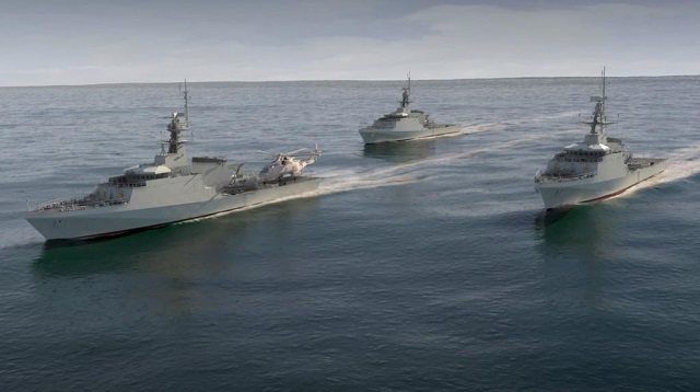 Terma's SCANTER 4100 radar system has been selected and ordered by BAE Systems for integration on board the Royal Navy's three new River class Offshore Patrol Vessels (OPV). The latest version of the SCANTER 4103 proven 2D Naval Air & Surface Surveillance Radar features the latest in software and powerful processing electronics resulting in improved performance.