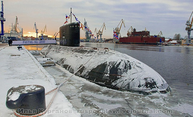 """Rostov-on-Don"" (B-237), the second Project 636.3 (or Varshavyanka class) diesel-electric submarine (SSK) designed for the Russian Black Sea Fleet was officially taken into naval service, an official of Admiralty Wharfs told Russian news agency ITAR-TASS on Tuesday."