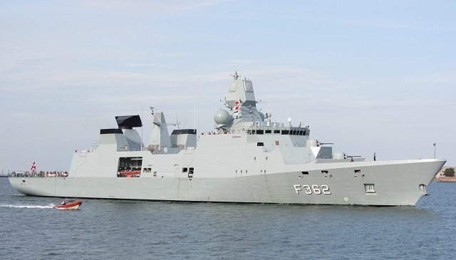 The trial, executed on 21 November 2013, consisted of four Evolved Sea Sparrow Missiles (ESSM) being directed by APAR to four targets. The trial was successful: all launched missiles performed a successful intercept. In the first part of the trial, a Banshee drone was eliminated by a missile launched by the new Royal Danish Navy Frigate HDMS Peter Willemoes (Iver Huitfeldt-class).