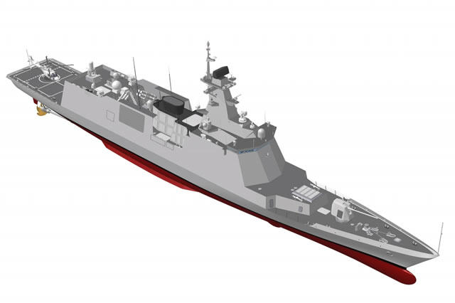 DRS Technologies Inc. announced today a contract award to design and produce a Hybrid Electric Drive (HED) propulsion system for the Republic of Korea Navy's future Incheon-class multipurpose frigate known as FFX Batch II (FFX-II).