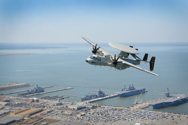 The E-2D Advanced Hawkeye officially became ready for tasking with Airborne Early Warning Squadron 125 (VAW-125) during a ceremony at Naval Station Norfolk Chambers Field, March 27.