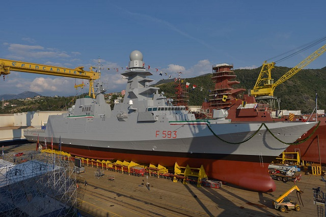 "The frigate ""Carabiniere"" was delivered today at the Muggiano (La Spezia) shipyard. It is the fourth vessel of the FREMM program – Multi Mission European Frigates - commissioned to Fincantieri within the international Italian-French program, coordinated by OCCAR (the Organisation for Joint Armament Cooperation). Orizzonte Sistemi Navali (51% Fincantieri and 49% Finmeccanica) is the prime contractor for Italy in the FREMM program, which envisions the building of 10 units, all already ordered."