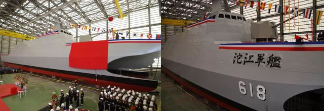 "Taiwan's first unit in a new class of 12 catamaran corvettes was christened Friday, The ""Tuo River"" was Christined during a cereomny held in Suao in northeastern Taiwan's Yilan county. The corvette will undergo a series of sea trials before its commissioning expected in the first half of 2015."