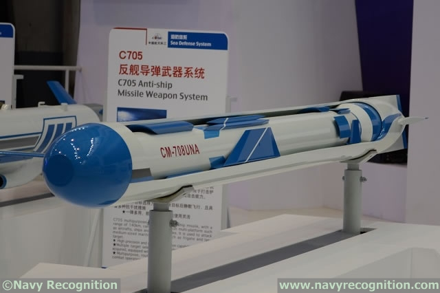 At Zhuhai China Air Show 2014, (which was covered by our affiliate Army Recognition) Chinese defense company China Aerospace Science & Industry Corporation (CASIC) unveiled a submarine launched anti-ship missile designated CM-708UNA. The system consists in a CM-708 anti-ship missile (also designated C-802, the export version of the YJ-8) with folding wings and a booster at its back encapsulated inside a torpedo-like capsule.