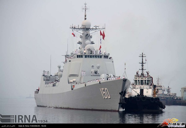 Two People's Liberation Army Navy (PLAN) vessels have docked at Iran's principal naval port for the first time in history, Iranian admirals told state television on Sunday, adding that the PLAN and Islamic Republic of Iran Navy (IRIN) would conduct four days of joint naval exercises.