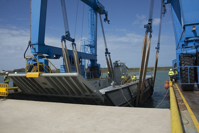 Navantia has launched on 27th. April 2015 the twelfth and last LLC fast landing craft being built for the Royal Australian Navy. The design of these ships is based in the fast landing crafts built also by Navantia for the Spanish Navy between 2006 and 2008.