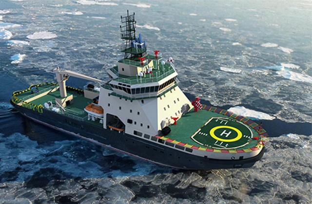 The head icebreaker of Project 21180, the Ilya Muromets, was laid down for Russia's Navy at St. Petersburg's Admiralteiskiye Verfi shipyard. The diesel-and electric-powered icebreaker is being built for the Northern Fleet to provide support for coastal and island bases and airfields in the Arctic and to escort vessels through ice up to 80 cm thick. It is to be commissioned in 2017.