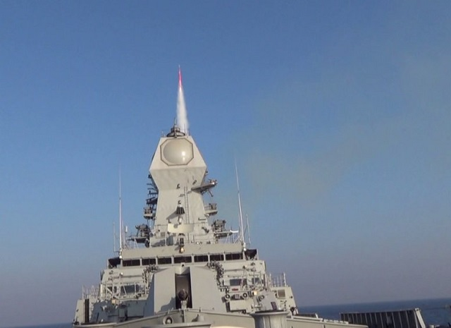 The Indian Navy achieved a significant milestone in enhancing its Anti Air Warfare capability with the maiden firing of its newly developed Long Range Surface to Air Missile (LRSAM also known as IAI's Barak-8). The firing was undertaken on 29 and 30th Dec 15 on the Western Seaboard by INS Kolkata Destroyer, wherein the missile successesfully intercepted an Aerial Target at extended ranges.