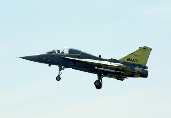 The Naval Prototype (NP2) made its maiden flight on February 7 for about 35 minutes. Mr. T. Suvarna Raju, Chairman of HAL said dedicated efforts of engineers of Aircraft Research and Design Centre (ARDC) for the complex landing gear design, which is significantly different from the Air Force version made this flight possible.