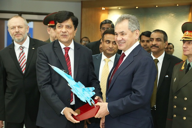 General Sergei Shoigu, Hon'ble Minister of Defence of the Russian Federation & General of the Army leading a high level defence delegation visited BrahMos Aerospace Headquarters on the 21st of January 2015.