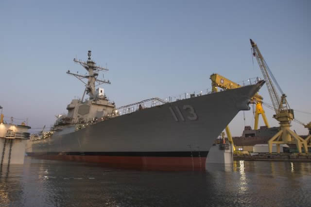 "The U.S. Navy marked a unique milestone last week with the activation of Aegis Combat Systems on both the oldest, and the newest DDG 51 class destroyers. The future USS John Finn (DDG 113) achieved ""light off"" of its Aegis Combat System on Sept. 8, at the Huntington Ingalls Industries (HII) shipyard in Pascagoula, Miss, while USS Arleigh Burke (DDG 51) achieved light off on Sept 5 as part of the DDG Modernization program combat systems upgrade at BAE in Norfolk."