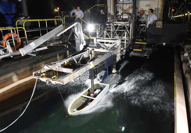 Earlier this month, scientists sponsored by the Office of Naval Research (ONR) performed experiments to better understand the motions, forces and pressures generated by waves on boats with high-speed planing hulls.