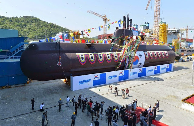 DSME Delivers Sixth Type 214 – KSS-2 Diesel Electric Submarine to ROK Navy