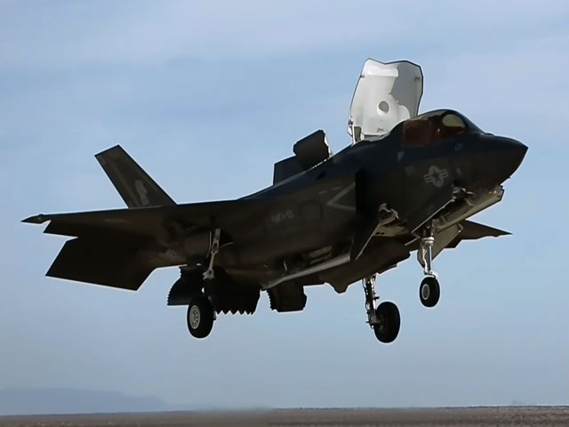 The United States Marine Corps (USMC) released a video showing F-35B (the short take-off and vertical-landing STOVL variant) pilots performing short take off and vertical landings as part of required flying field carrier landing practices (FCLP). The pilots are from Marine Fighter Attack Squadron 121 based out of Marine Corps Air Station Yuma, Arizona.