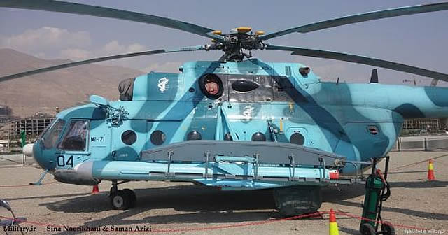 Pictures have emerged on Iranian website Military.ir showing an Mi-171 helicopter belonging to the Islamic Revolutionary Guard Corps Navy (IRGC N) fitted with two Noor anti-ship missiles. The Noor is a locally produced missile based on the Chinese C-802 anti-ship missile.