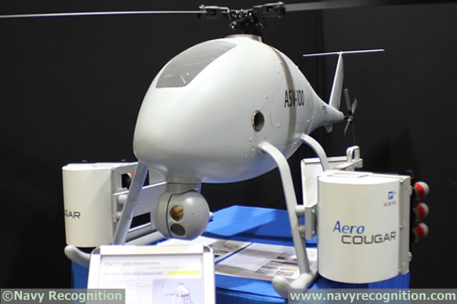 Aero Surveillance unveiled at MILIPOL 2015 a new Multi purpose Payload Launcher (MPL 30) on its line of VTOL Unmanned Aircraft Vehicles. The MPL 30 system can be adapted on ASV 100 or ASW 150 to fire several types of payloads in collaboration with Etienne Lacroix Group. Navy Recognition learned during the event that the two French companies are working on a variant to protect surface vessels.