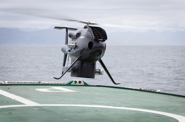 Schiebel's CAMCOPTER® S-100 Unmanned Air System (UAS) continues its successful shipboard trials when demonstrating its outstanding capabilities to the South African Navy from 20 to 23 October 2015 at False Bay, Western Cape, South Africa.