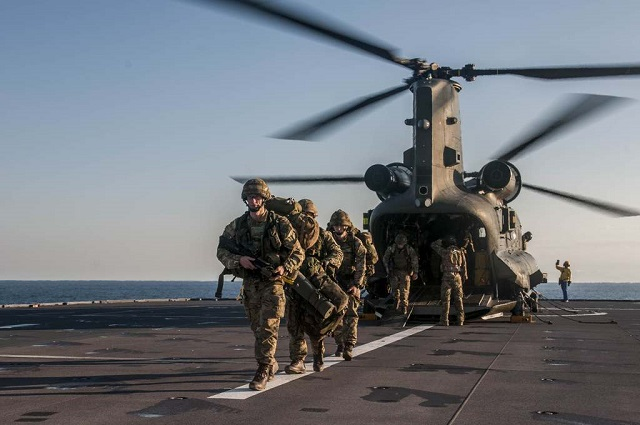 A dozen helicopters and 250 Royal Marines helped evacuate people from a 'war-torn' Mediterranean island – a major test of the British and French military to work side-by-side. For the past week, more than 2,000 British and French sailors, soldiers, airmen and marines have been engaged on Exercise Corsican Lion, played out on and off the north and south coasts of the island.