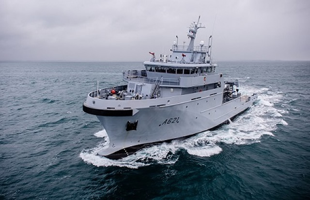 "The French procurement agency (DGA) received, on behalf of the French Navy (Marine Nationale) the ""d'Entrecasteaux"" on March 25 2016. It is the first B2M (for bâtiment multi-missions or multi-mission vessel) intended for the overseas missions of sovereignty. D'Entrecasteaux will soon join its home port of Noumea in New Caledonia."