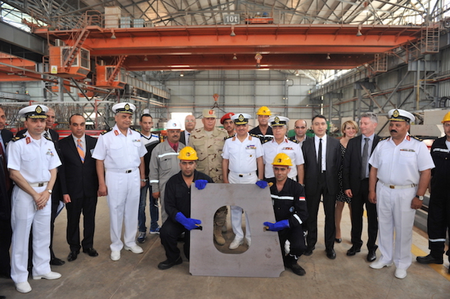 Egypt has begun the construction of the first Gowind 2500 corvette. The start has been celebrated with the cutting of the first metal piece at Alexandria Shipyard. Representatives of the Egyptian Navy and DCNS officials attended the special ceremony.